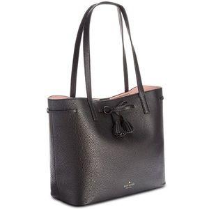 Kate Spade Hayes Street Nandy Tote - Black Leather